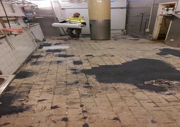 Restaurant Kitchen Non Slip Flooring cocos restaurant flooring rectification - non slip industrial flooring